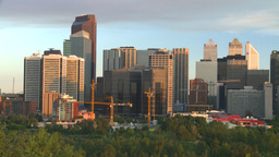 HD2008-6-9-48 Calgary evening skyline Stock Video Footage