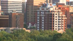HD2008-6-9-50 Calgary evening skyline condo Stock Video Footage