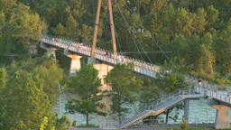 HD2008-6-9-52 Calgary evening footbridge Footage