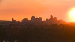 HD2008-6-9-54 Calgary evening skyline sunset Stock Video Footage