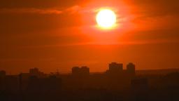 HD2008-6-9-58 Calgary evening setting sun Stock Video Footage