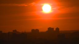 HD2008-6-9-58 Calgary evening setting sun Footage