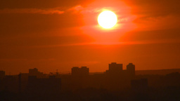 HD2008-6-9-58 Calgary evening setting sun Stock Video Footage