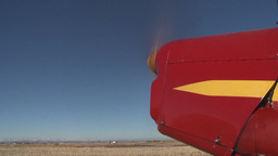 HD2008-3-1-1 Red biplane idle Footage