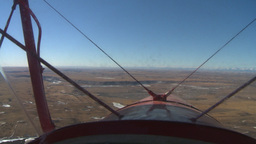 HD2008-3-1-13 Red biplane through windshield Stock Video Footage
