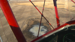 HD2008-3-1-17 Red biplane aerial wing left shadow Stock Video Footage
