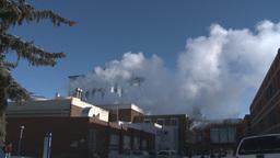 HD2008-3-1-21 steam exhaust SAIT Stock Video Footage