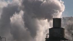 HD2008-3-1-23 steam exhaust industrial bdg IKO Stock Video Footage