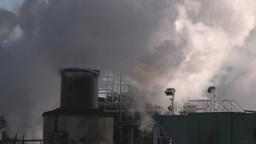 HD2008-3-1-25 steam exhaust industrial bdg IKO Stock Video Footage