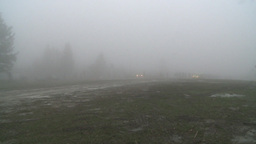 HD2008-3-1-29 rally car in rain fog Stock Video Footage