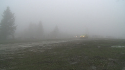 HD2008-3-1-29 rally car in rain fog Stock Video Footage