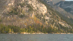 HD2008-10-1-8 lake boat ride autumn colors Footage