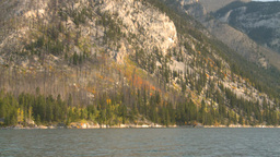 HD2008-10-1-8 lake boat ride autumn colors Stock Video Footage