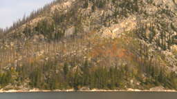HD2008-10-1-10 lake boat ride autumn colors Stock Video Footage