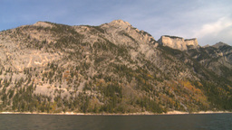 HD2008-10-1-12 lake boat ride autumn colors Stock Video Footage