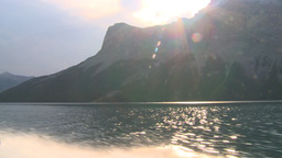 HD2008-10-1-18 lake boat ride autumn colors Stock Video Footage