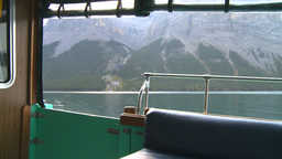 HD2008-10-1-20 lake boat ride autumn colors Stock Video Footage