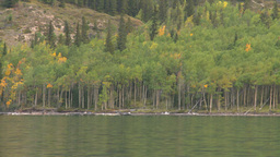 HD2008-10-1-26 lake boat ride autumn colors Stock Video Footage