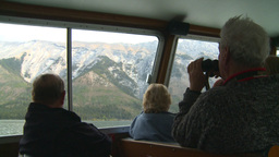 HD2008-10-1-30 lake boat ships tourists Stock Video Footage