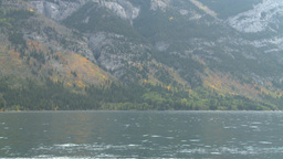 HD2008-10-1-38 lake boat ride autumn colors Stock Video Footage