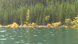HD2008-10-1-40 lake boat ride autumn colors Stock Video Footage