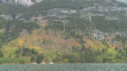 HD2008-10-1-44 lake boat ride autumn colors Stock Video Footage