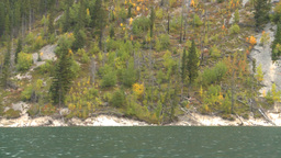 HD2008-10-1-48 lake boat ride autumn colors Stock Video Footage