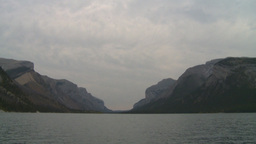 HD2008-10-1-54 lake boat ride autumn colors Stock Video Footage