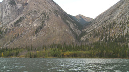 HD2008-10-1-55 lake boat ride autumn colors Stock Video Footage