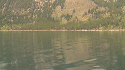 HD2008-10-1-57 lake boat ride autumn colors Stock Video Footage