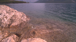 HD2008-10-1-75 rock and lake Stock Video Footage