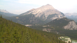 HD2008-10-2-11 ride above forest Mt Cascade cable car Stock Video Footage