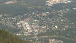HD2008-10-2-17 top, town of Banff Cascade Z Stock Video Footage