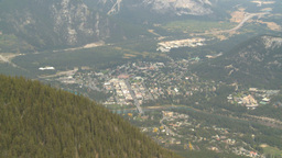 HD2008-10-2-17 top, town of Banff Cascade Z Stock Video Footage