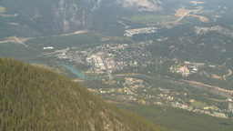 HD2008-10-2-25 top, town of banff med Stock Video Footage