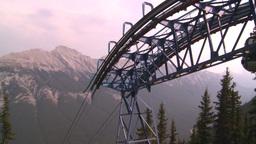 HD2008-10-2-35 top, gondola cars Stock Video Footage
