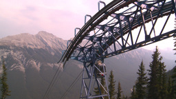 HD2008-10-2-35 top, gondola cars Stock Video Footage