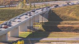 HD2008-10-2-39 rush hour traffic TL blur Stock Video Footage