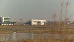 HD2008-10-2-43 RJ jet thru frame touchdown Stock Video Footage