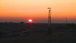 HD2008-10-3-2 sunrise oil rig Footage