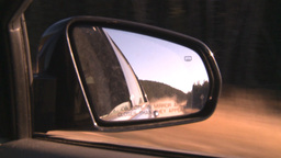 HD2008-10-3-14 drive on mtn road side mirror Footage