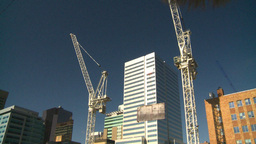 HD2008-10-3-18 const cranes Stock Video Footage