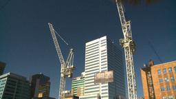 HD2008-10-3-18 const cranes Footage