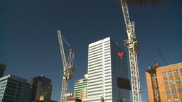 HD2008-10-3-18 const cranes Stock Video Footage