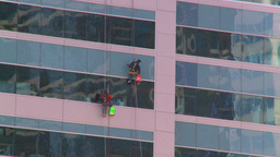 HD2008-10-4-5 window cleaners Stock Video Footage