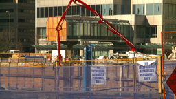 HD2008-10-4-9 construction site concrete pump Stock Video Footage