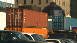 HD2008-10-4-11 intermodal train Stock Video Footage