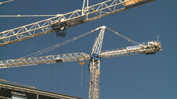 HD2008-10-4-13 construction crane Stock Video Footage