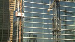 HD2008-10-4-15 construction crane const elevator Stock Video Footage