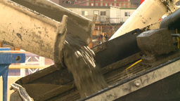 HD2008-10-4-21 construction cement pouring Stock Video Footage